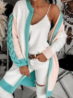 Swetr Warkocz Pastel - zdjęcie 5