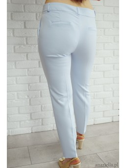 Eleganckie spodnie Madame baby-blue - zdjęcie 2