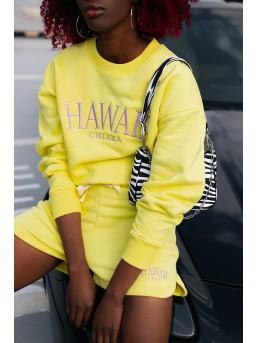 Szorty Chiara Hawaii Yellow - zdjęcie 3