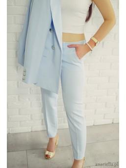 Eleganckie spodnie Madame baby-blue - zdjęcie 3