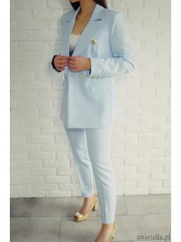 Eleganckie spodnie Madame baby-blue - zdjęcie 4