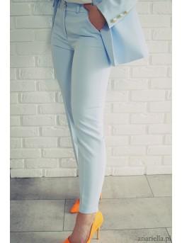Eleganckie spodnie Madame baby-blue
