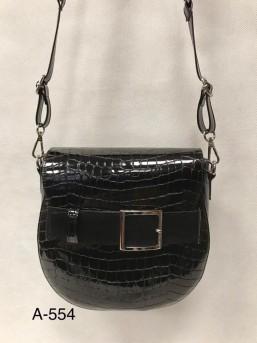 Torebka mała czarna z klamrą - zdjęcie 1