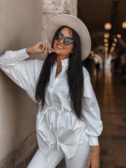 Koszula ZARA biała - zdjęcie 3