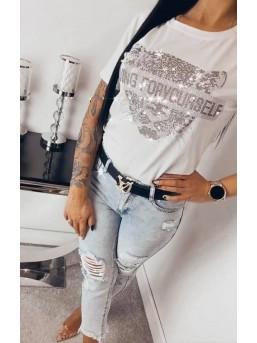 T-shirt Glamour Tiger white